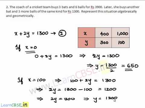 CBSE Class 10 Maths solutions Pair of Llinear Equations Exercise 3.1 ...