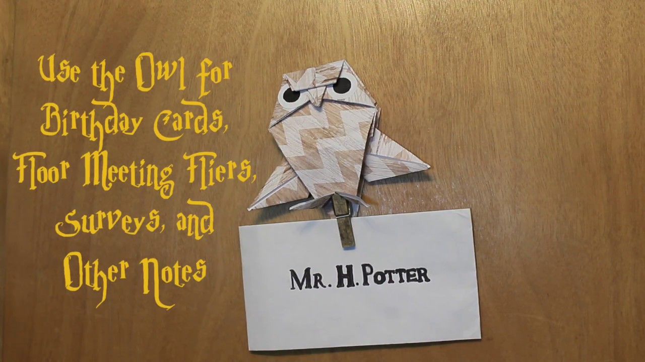 Harry Potter Inspired Owl Door Decs Youtube