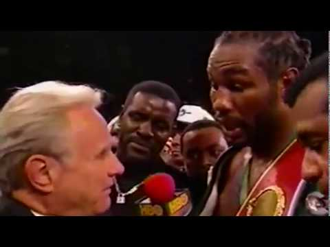 Lennox Lewis CRAZY Post Fight Interview with Larry Merchant