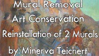 Mural Removal, Art Conservation, Mural Reinstallation Minerva Teichert, LDS Art, Mormon Art