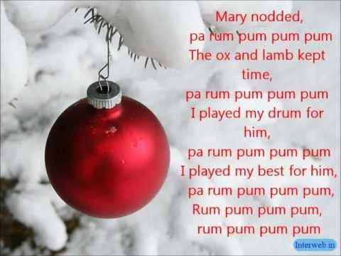 Glee - Little Drummer Boy - Lyrics