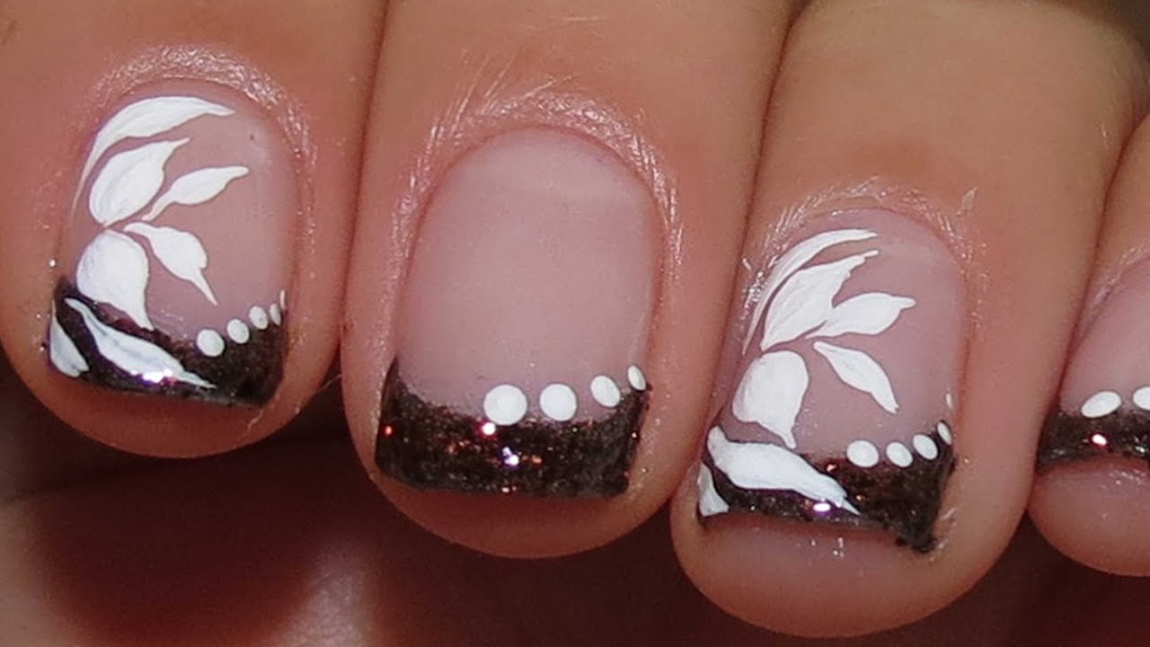 Fast,Simple and Elegant Nail Art Design tutorial - YouTube