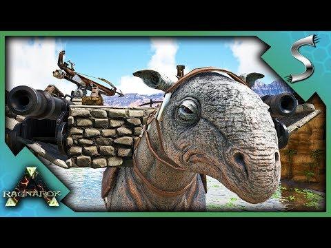 THE MOBILE WAR BASE! PARACER BREEDING & MOBILE BASE BUILDING - Ark: RAGNAROK [DLC Gameplay S3E14]