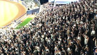 Yankee Stadium bleachers going INSANE during 2018 AL Wild Card Game