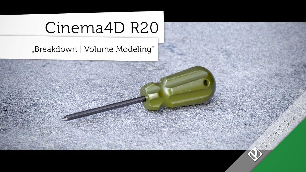 Cinema 4D R20 // Breakdown Volume Modeling