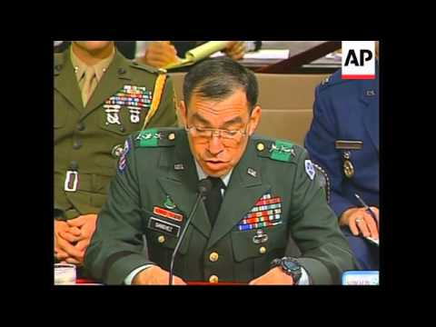 Senior military officials at senate hearing