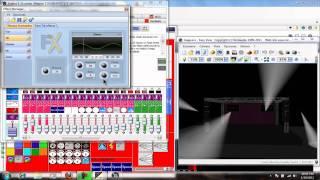 """Programa DMX, """"Sunlite Suite"""" Como hacer una ecena  y editarla"""