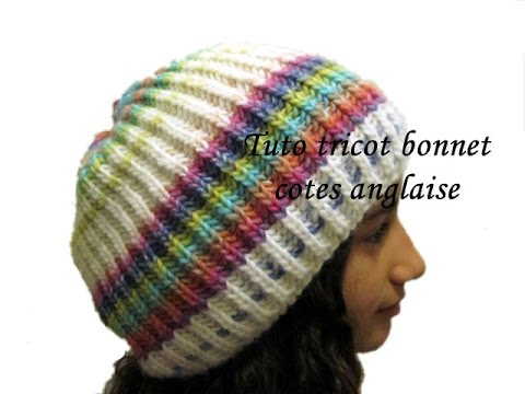 Tuto tricot bonnet cotes anglaise facile youtube - Comment tricoter un plaid ...