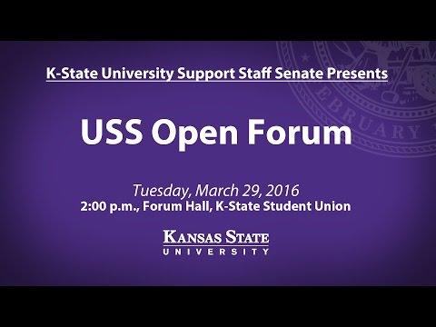 K-State USS Senate | Spring 2016 Open Forum