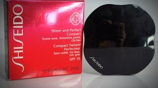 Shiseido Sheer and Perfect Compact - test na żywo Thumbnail
