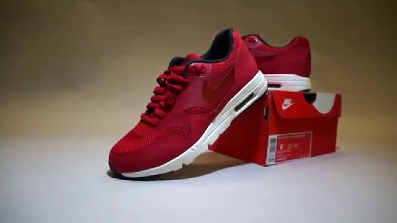 Air Max 1 Gymnase Essentiel Voile Rouge Cayman