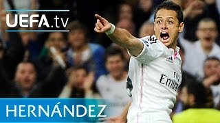 Chicharito winning goal - Real Madrid v Atlético - UEFA Champions League 2015