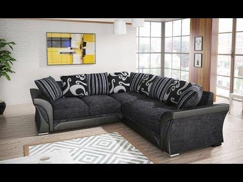 Shannon Sofa Large Corner Sofa 3 2 Seater Sofa Black Grey Brown Mink Fabric Settee Youtube