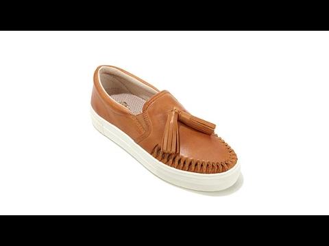 Vince Camuto Kayleena Leather SlipOn Sneaker - YouTube  Vince Camuto Ka...