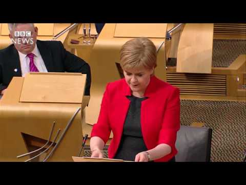 Watch Nicola Sturgeon's call for a second independence referendum at Holyrood