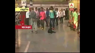 Dog problem in the busiest Howrah Station : Watch