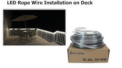 LED Rope Wire Installation on Deck