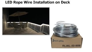 Video LED Rope Wire Installation on Deck download MP3, 3GP, MP4, WEBM, AVI, FLV Agustus 2018
