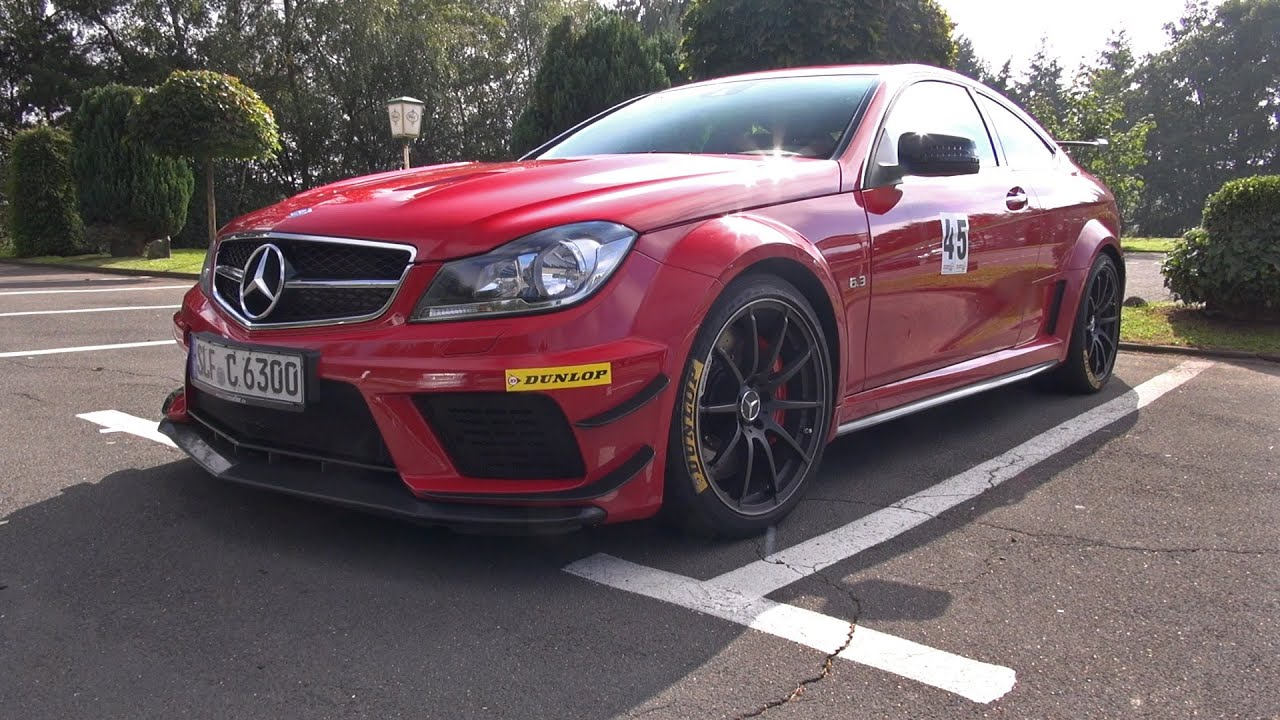 2x Mercedes-Benz C63 AMG Coupe Black Series - Lovely Sounds!