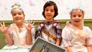 Настя, Алла-Виктория и Мартин в салоне для принцев и принцесс
