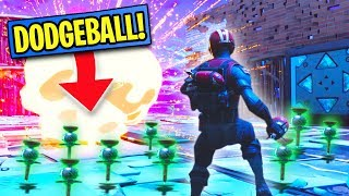 CLINGER DODGEBALL ON A SKYBASE! | Fortnite Battle Royale Custom Games