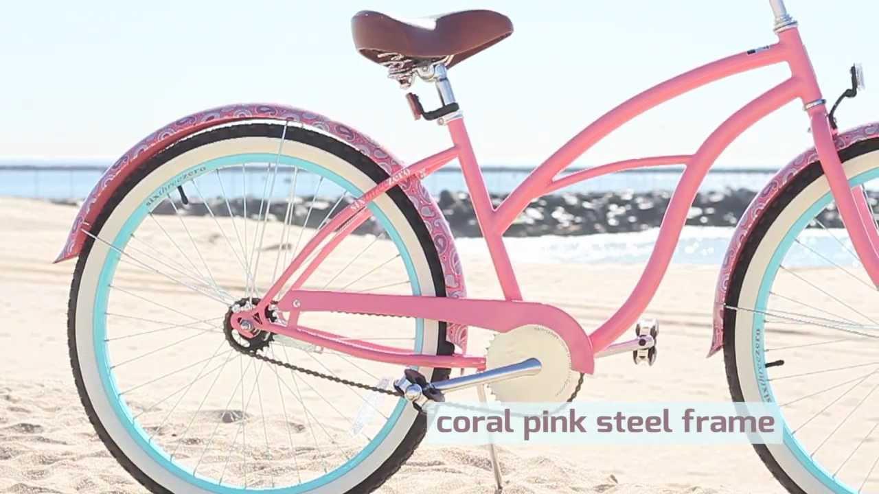 Sixthreezero Paisley Ladies Beach Cruiser Bike Youtube