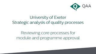 Case study - University of Exeter: Strategic analysis of quality processes thumbnail