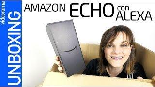 Amazon Echo con Alexa en español unboxing -pequeño pero MATON-