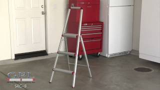 Hw 7 Lbs. Light Weight Aluminum 3 Step Stool