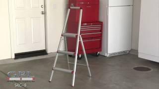 Hw 7 Lbs. Light Weight Aluminum 3 Step Stool