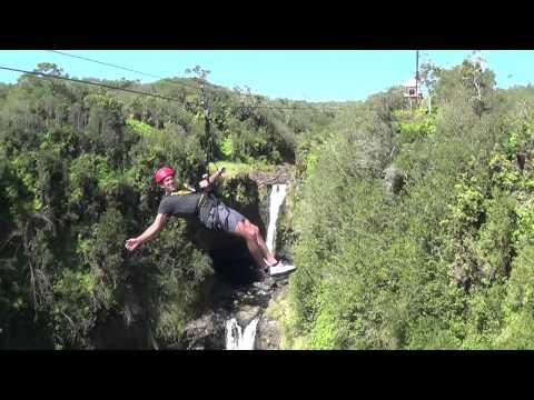 Tom Fitzgerald ziplining