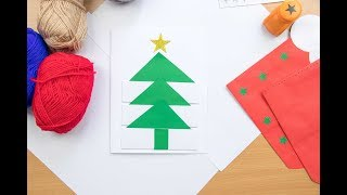 DIY Christmas card|Making xmas card For kids|Christmas tree card|Simple & easy greeting card|cards