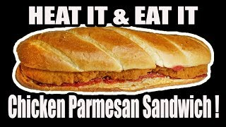HEAT IT & EAT IT Chicken Parmesan Sandwich! - WHAT ARE WE EATING?? - The Wolfe Pit
