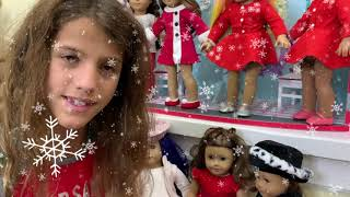 American Girl Dolls Dress Up For Christmas