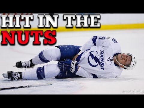 (NHL) HIT IN THE NUTS