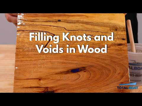 Filling Knots and Voids in Wood with Epoxy Resin