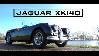 Jaguar Xk140   XK 140 Roadster 1956 - Test Drive in top gear - Engine sound   SCC TV