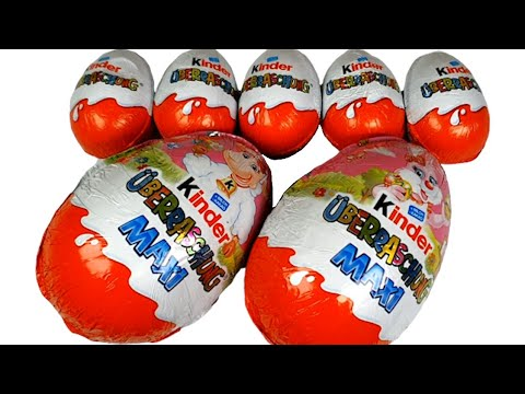 kinder-surprise-eggs---maxi-kinder-disney-toys-fun-for-kids-with-kids-songs