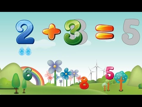 Adding Numbers For Kids To Learn (Addition Plus Sign +) Maths For Children Kids Maths 123 Add Digits