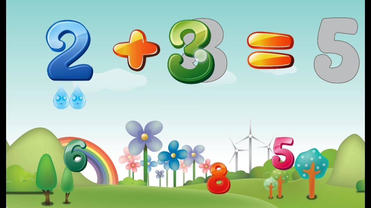 Adding Numbers For Kids To Learn (Addition Plus Sign +) Maths For ...