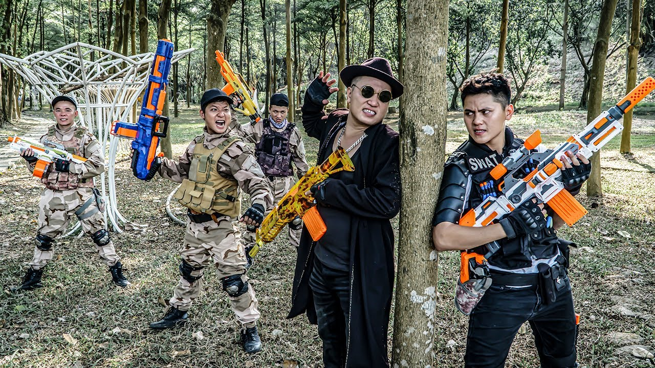 LTT Game Nerf War : SQUAD Warriors SEAL X Nerf Guns Fight Braum Crazy Confrontation