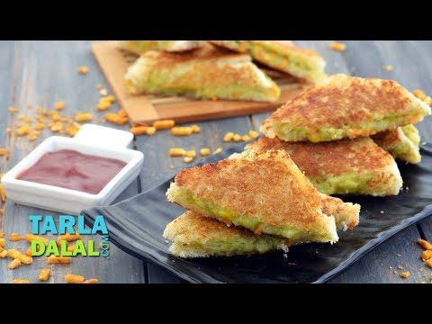 Potato and Corn Sandwich On A Tawa by Tarla Dalal