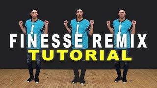 FINESSE (Remix) - Bruno Mars ft Cardi B Dance TUTORIAL || Matt Steffanina