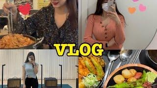 vlog]국물닭발 오돌뼈 소맥먹방 정든닭발/필라테스 브…