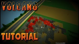 Roblox How to Make A Volcano - Theme Park Tycoon Tutorial