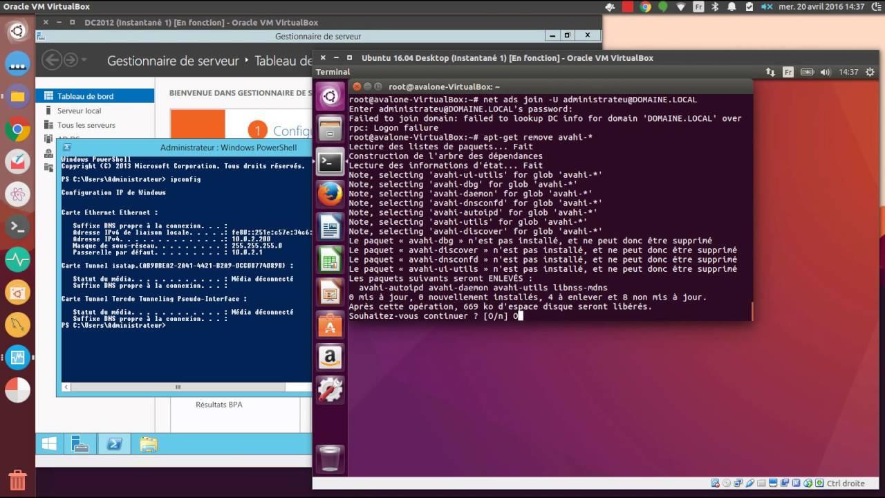 Authentification Active Directory depuis un poste client Ubuntu Desktop  16 04