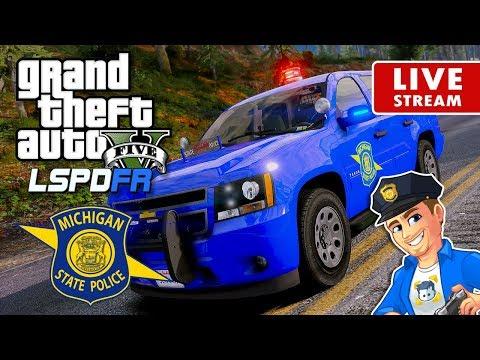 GTA 5 POLICE MOD LSPDFR LIVE Michigan State Police Trooper | GTA 5 LSPDFR Realistic Police Patrol
