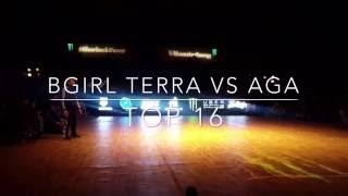 Silverback Open 2016 Bgirl Terra vs Aga Top 16 Bgirl Battle