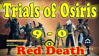 Destiny - Trials of Osiris Flawless 9 - 0 - Using Red Death