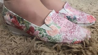 Как я переделала старые туфли! СМОТРИТЕ видео ДО И ПОСЛЕ Декупаж обуви!